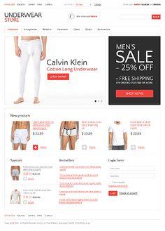 Underwear Man VirtueMart Templates by Hermes