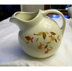 Hall Jewel Tea Autumn Leaf ball jug