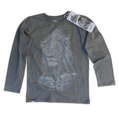 Longsleeve Shirt Lion Grey by Organic Brand Lion of Leisure