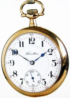 #D11D Hamilton 992 Antique Railroad Pocket Watch 16 Size 21 Jewels Gold Filled Ca 1911 $500.00
