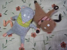 Ravelry: Mikey Muskrat & Petunia Possum pattern by Mary Jo Martinek