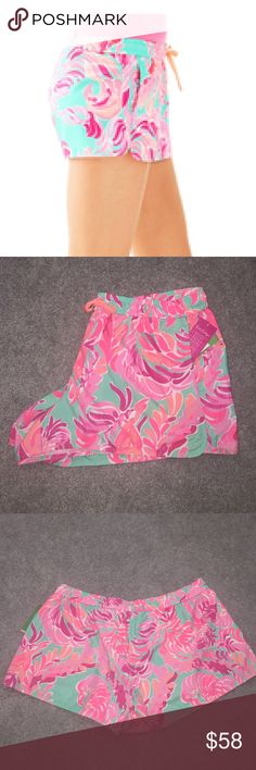 Lilly Pulitzer run around short love birds NWT/XL Lilly Pulitzer run around short love birds NWT/XL poolside blue.   Reasonable Offers Appreciated   No Trades  If interested use offer feature to make offer not the comment section, thank you. Lilly Pulitzer Shorts