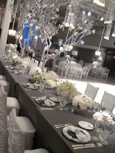 Gray weddings are classic, gorgeous, and neutral enough for any time of year. #grayweddings #weddingdecor