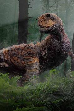 Carnotaurus Dinosaur Cretaceous Period Grass Trees Art Print by mario's - X-Small Jurassic World, Jurassic Park, Dinosaur Land, Infinity Wallpaper, Cool Dinosaurs, Modern Drawing, Thing 1, Extinct Animals, Prehistoric Creatures