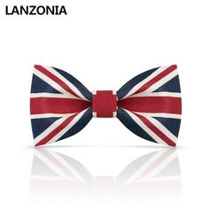 Lanzonia Boys Handmade Bowtie Feather Bow Tie for Kids