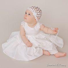 Baby christening dress baby flower girl dress by JasmineAndPoppy