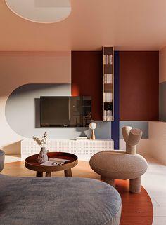 Estilo Color Block, Interior Design Living Room, Living Room Designs, Casa Top, Style Deco, 3d Models, Interior Design Studio, Living Room Sets, Apartment Design