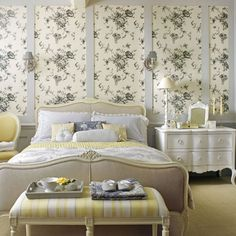 Yellow floral bedroom | Country bedroom idea | housetohome.co.uk