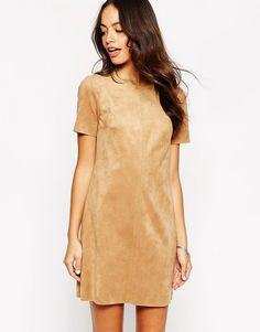New+Look+Suedette+Swing+Dress