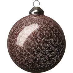 copper glitter ball ornament | CB2
