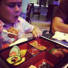 The #kids Chicken Katsu #bento is his favorite @sumosushibento #yum #AbuDhabi #UAE #love #sumo #kidfoodie #kidtravel #kidfave #sushi #Dubai #foodie #MasdarCity ❤️