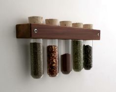 Test Tube Spice Rack Wall Spice Rack with by andrewsreclaimed. You would need 3 or 4 of these. Spice Rack Over The Door, Spice Rack On Pantry Door, Test Tube Spice Rack, Pull Down Spice Rack, Rotating Spice Rack, Drawer Spice Rack, Revolving Spice Rack, Wall Mounted Spice Rack, Spice Rack Organiser