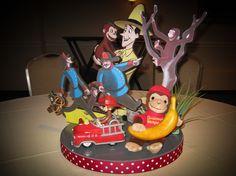 FIRST BIRTHDAYS - Curious George Diorama Centerpiece