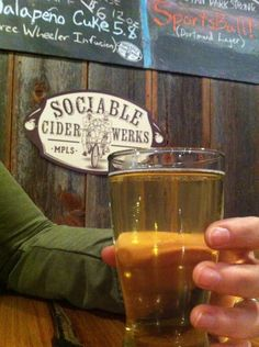 Sociable Cider Werks in Minneapolis, MN sociablecider.com /// TAP ROOM -- Thursday/Friday: 4-11pm / Saturday: Noon-11pm /  Sunday: Noon-6pm