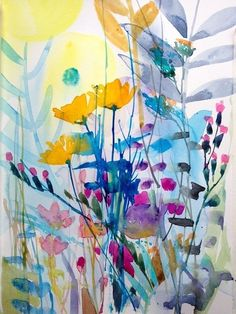 Signed Original Watercolour Painting -Tangleweed - by Annabel Burton