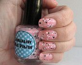 Pink and Black glitter nail polish Beauty School Dropout