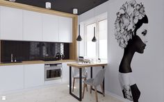 Projekt mieszkania o powierzchni 42m2, obejmujący salon z otwartą kuchnią, łazienkę, sypialnię oraz przedpokój z ciekawie zaaranżowanym siedziskiem. Celem projektu było stworzenie ...