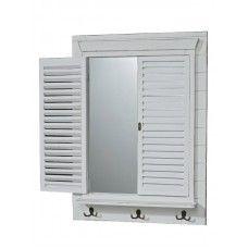Oglindă tip fereastră cu obloane 65x10x90 cm decoraţiuni interioare