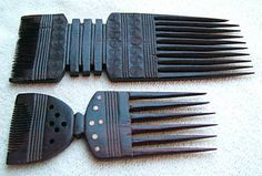 African Combs Afternoon at the Petrie Museum Afro Comb, Hair Comb Clips, Hair Combs, Crown Hairstyles, African Hairstyles, Pretty Hairstyles, African Culture, African Art, Art