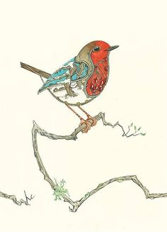 Robin in the Snow - Card