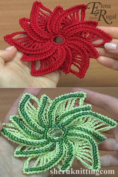We used: cotton yarn, a meter of 169 meters in 50 grams, a hook of mm or mm, beads (uneven, coarse): d = cm.Crochet Flower With Seed Beads Tutorial 185 Crochet Flower Tutorial, Crochet Flower Patterns, Crochet Designs, Crochet Flowers, Freeform Crochet, Thread Crochet, Irish Crochet, Knit Crochet, Crochet Stitch