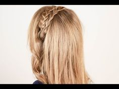 "▶ Косичка ""ободок"" на каждый день. Headband Braid for Every Day - YouTube"