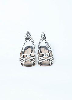 Nicholas Kirkwood | Floral cut-out Sandals  | RESEE