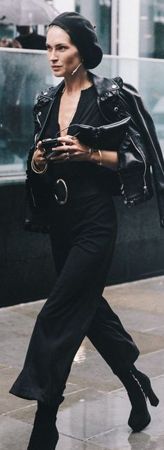 Everything Black Erin Wasson Fall Inspo by Collage Vintage