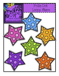 {Free Clipart!} This set has six vibrant stars- perfect for any themed resource or labels! All files are in png formats. These vibrant images are perfect for creating color activities for little learners.