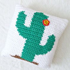 "New Pattern Alert  Summer is in full swing and I needed a seriously fun pillow to brighten up my living room. Introducing the Happy Cactus Pillow Pattern!   Complete with a sweet flower I made this cuddly cacti in just one night. Enjoy BOGO pricing on patterns today with code ""Summer50"". Click the link in my bio now  #crochetisbae #succulentaddict #handmadewithjoann"