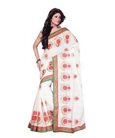 Off White Bhagalpuri Saree With Blouse 60060