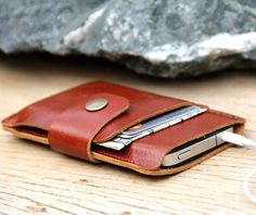 Leather iPhone Wallet by Sakatan Leather