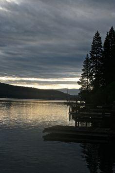 sunrise over Donner Lake, Ca