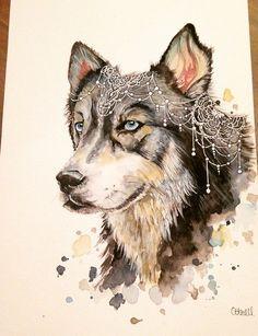 Bohemian Wolf Print