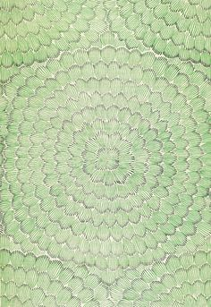 Celerie Kemble Feather Bloom Emerald & Ore Wallcovering (Priced by the Yard. Sold in 8 Yard Increments. Minimum Order is 8 Yards) Zig Zag Wallpaper, Palm Wallpaper, Green Wallpaper, Print Wallpaper, Fabric Wallpaper, Pattern Wallpaper, Wallpaper Jungle, Bathroom Wallpaper, Textile Patterns