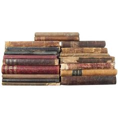 Antique School Books Set of 20 (2.800 NOK) ❤ liked on Polyvore featuring books
