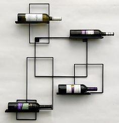 "& & & & DanDiBo wine rack ""Black Line"" Flaschenst metal 90 cm bottle holder wall shelf Wine Shelves, Wine Storage, Bottle Rack, Bottle Holders, Wine Rack Bar, Metallic Decor, Etagere Design, Home Wine Cellars, Wine Display"