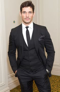 If your job requires you to look good at all times (as with David Gandy, my second fave male model), pulling off a three-piece should be easy.