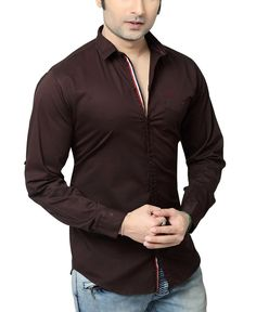 RX3 by Redox Men's Slim Fit Cotton Shirt [Jetseep][9536-Full] (25 Colours)