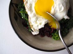 Kale & Fried Eggs over Rice. The perfect weeknight dinner.