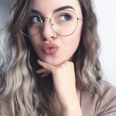 6c85c11efd1 Every Girl Must Have These Vintage Round Metal Circle Glasses Frames. Girl GlassesGlasses  StyleHipster ...