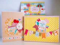 Echo Park Summer Bliss Complete Paper Collection!! I made a mini album, a decorative envelope and a chipboard box from a single collection