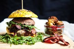 Baked Gourmet Burger with Brie & Caramelised Onions