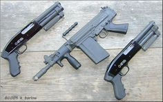 2 Serbu Super Shorties and a FAL AOW