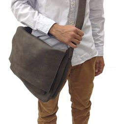 Check out Sale! Distressed grey Leather Messenger Bag, messenger bag men, mens leather laptop bag, leather laptop messenger bag men on limorgalili Distressed Leather, Grey Leather, Leather Men, Mens Leather Laptop Bag, Leather Backpack, Leather Crossbody, Lv Tote, Crossbody Bag, Macbook Bag