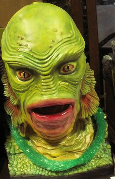 Professionally painted Creature from the Black Lagoon Bust
