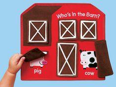 Who's in the Barn? Peekaboo Board
