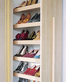 I need this  Normally used in kitchens, a pull-out pantry becomes a shoe closet when the shelves are installed at an angle; professional assistance is recommended for this project. Nonskid shelf liners prevent pairs from sliding when the unit moves.