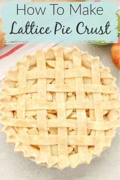 Lattice pie crusts are not as hard as they seem. Come learn how to make a lattice pie crust with this easy step-by-step tutorial. This technique makes weaving a lattice pie crust easy and it only takes minutes. It makes a beautiful, decorative touch for almost any pie! Come add this special touch to your pie this spring and summer! Lattice Pie Crust, Easy Pie Crust, Pie Crusts, Easy No Bake Desserts, Homemade Desserts, Easy Desserts, Delicious Desserts, Trifle Pudding, Baking Basics