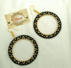 Beaded Earrings Patterns, Seed Bead Earrings, Diy Earrings, Bridal Earrings, Bead Jewellery, Tribal Jewelry, Beaded Jewelry, Handmade Jewelry, Beaded Rings